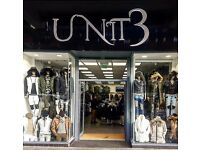 Sales Assistant Retail Mens & women Store ** Full & Part Time Vacancies Available **