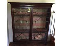 Mahogany and glass display cabinet