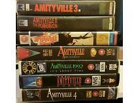 Amityville ex rental VHS collection, includes rare Amityville Curse