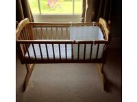 Mother care wooden rocking crib