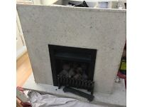 Free Marble surround gas fire