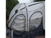 BASECAMP PANORAMA 2 METRE GREY CARAVAN AWNING, GOOD CLEAN CONDITION ONLY £50, CAN DELIVER