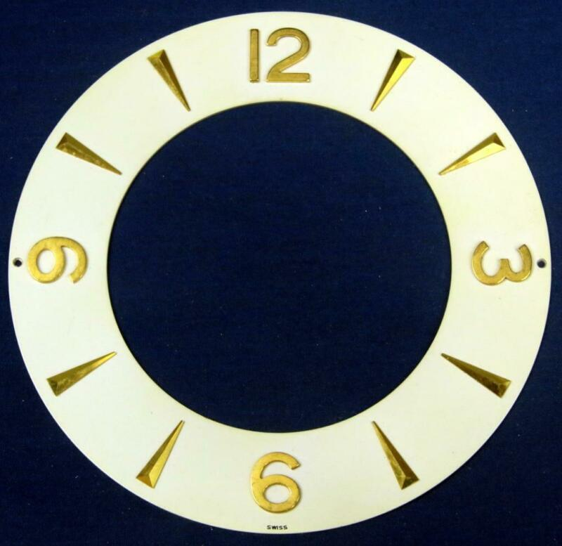 G55. ATMOS LECOULTRE CLOCK DIAL 526 SWISS GILT ROMAN NUMERALS   @ III, XI, HORIZ
