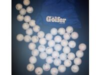 88 ASSORTED BRAND LITTLE USED CLEAN GOLF BALLS, CAN POST