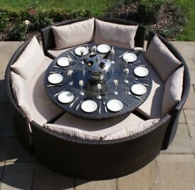Outdoor dining set for 8-12 people, good condition
