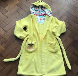 Girls yellow miss sunshine dressing gown from Marks & Spencer Age 7/8 Years