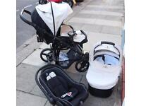 Venicci Cream Travel System - stroller, carrycot and car seat