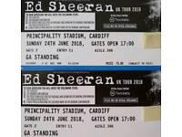 2x Ed Sheeran Tickets Cardiff 24th June