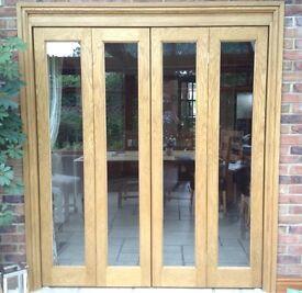 Solid Oak Bifold Door