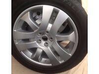 4 x Freelander 2 / RR Evoque 19 inch Triple Sport Alloy wheels & Continental Cross Contact Tyres