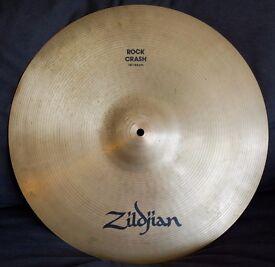"Zildjian Avedis 18"" Rock Crash Drum Cymbal - Good Condition"