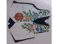 Unisex Sequined Baubles Christmas Waistcoat, Great detail very festive