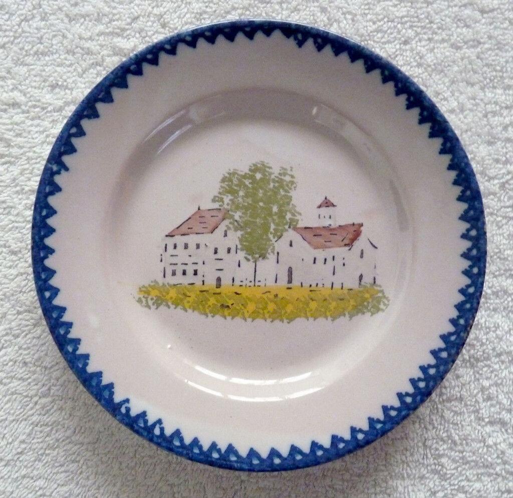 A French Faience Spongeware Plate