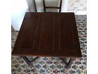 Lovely Vintage Dark Wood Draw Leaf Extending Dining Table