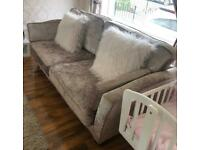 Crushed velvet sofa/couch 3 plus 2 seater
