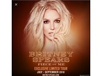 6 x Floor seated block B1 Britney Spears tickets O2 London Saturday 25th August Floor B1 Row S