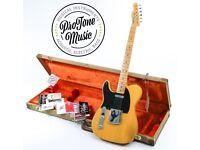 Fender American Vintage 52 Telecaster Butterscotch Blonde Left Handed & Case