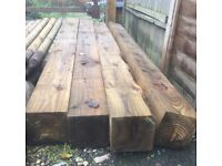 7x7 timber posts brand new !!!