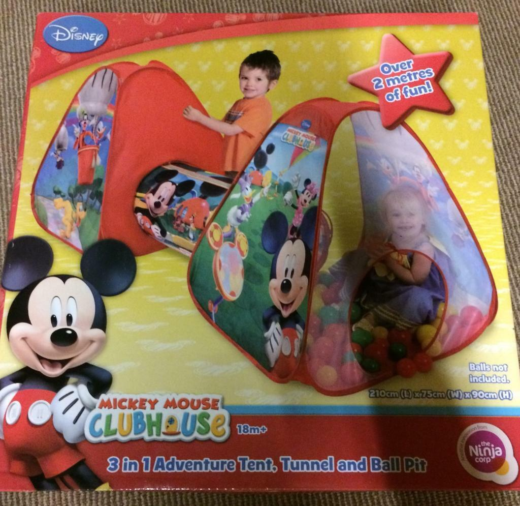 Mickey Mouse clubhouse 3 in 1 pop up tent tunnel ball pool. New  sc 1 st  Gumtree & Mickey Mouse clubhouse 3 in 1 pop up tent tunnel ball pool. New ...
