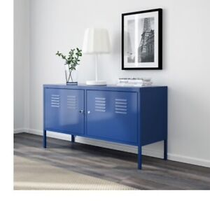 IKEA Near New Blue TV Cabinet Stand Unit ASSEMBLED