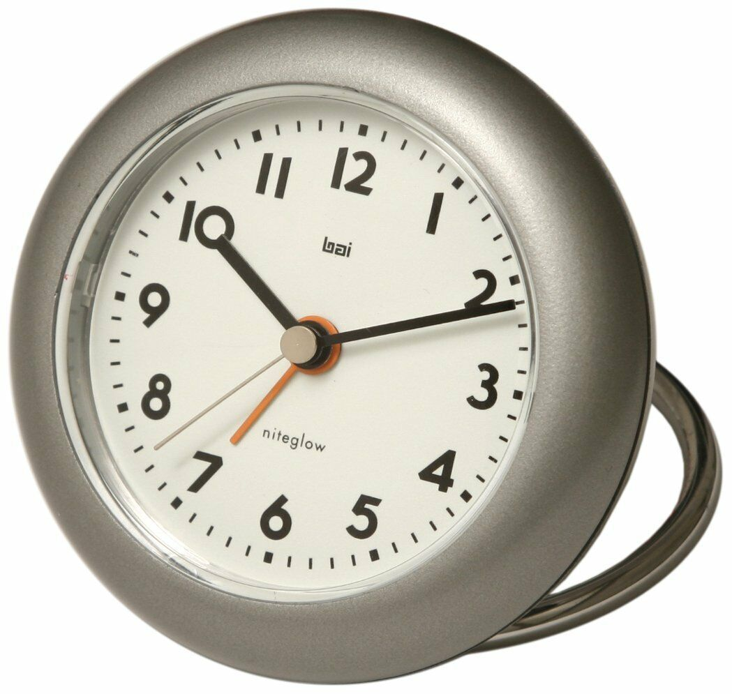 Bai Rondo Travel Alarm Clock, Gunmetal 506 LA