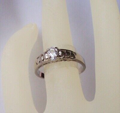 Cubic Zirconia Solitaire Ring - Marquise Cubic Zirconia SOLITAIRE Engagement Ring 18K White Gold Plated Size