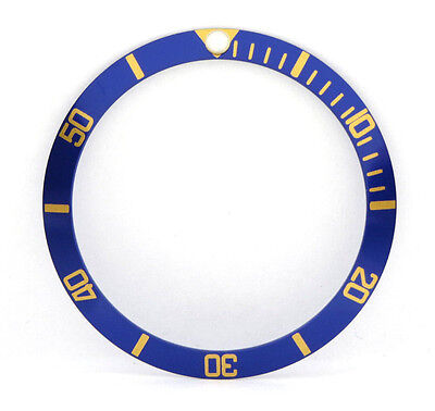 5513, 1680 Blue and Gold Bezel Insert For Rolex Submariner