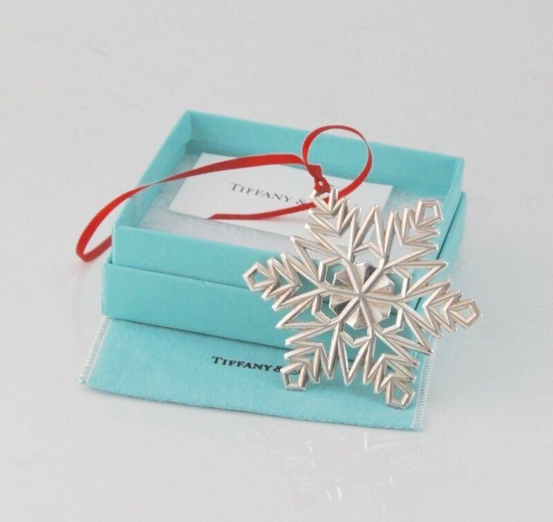 Tiffany & Co. Sterling Silver Snowflake Ornament