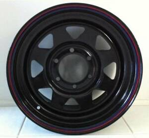 15X8 WHEELS 4X4 NEW BLACK Charlestown Lake Macquarie Area Preview