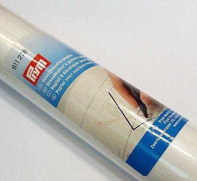 Schnittmusterpapier 0,63 Euro/m 1mx10m weiß Prym 611278 Seidenpapier