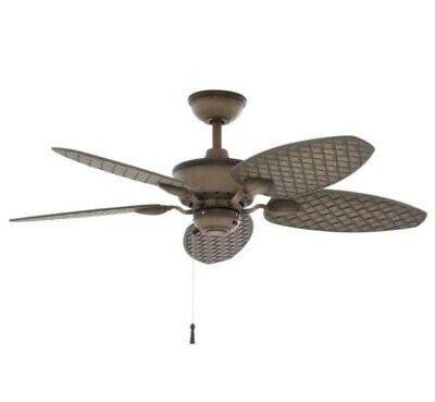 Largo 48 in. Indoor/Outdoor Weathered Zinc Wet Rated Downrod Ceiling Fan