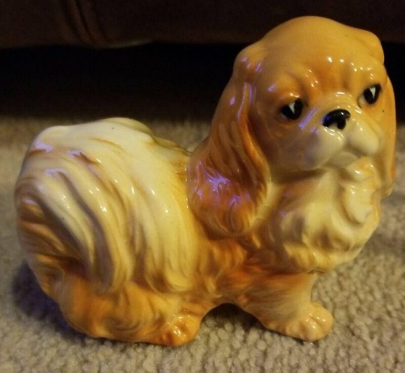 Vintage Ceramic Pekingese Dog Figurine
