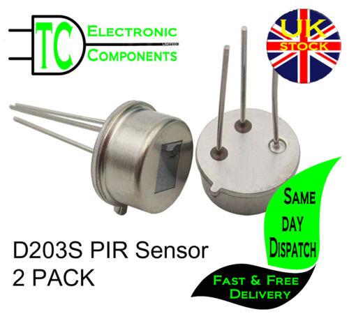 D203S TO-5 PIR Infrared radial sensor P228 Fresnel Lens  (2 Pack) **UK Seller**