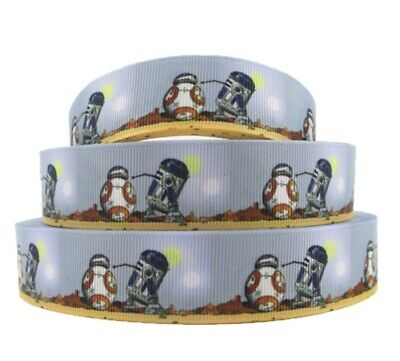 "By the Yard 1""Printed Disney Star Wars Robots Grosgrain Ribbon.... Lisa](Star Wars Ribbon)"