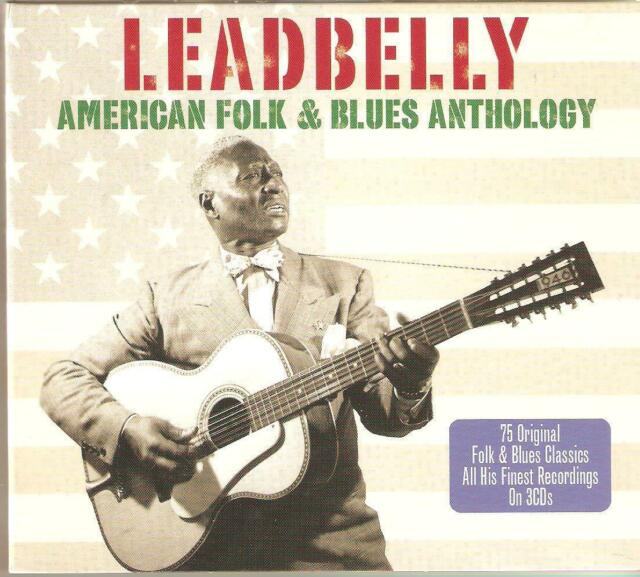 LEADBELLY AMERICAN FOLK & BLUES ANTHOLOGY - 3 CD BOX SET