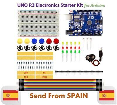 Basic Starter Kit UNO R3 MINI Breadboard LED Jumper Wire Button for...