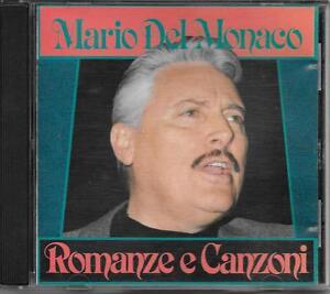 """MARIO DEL MONACO - RARO CD 1987 FUORI CATALOGO """" ROMANZE E CANZONI """" - Italia - L'oggetto può essere restituito - Italia"""