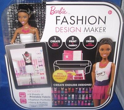 BARBIE COLLECTOR FASHION DESIGN MAKER AND AA BARBIE DOLL, NEW