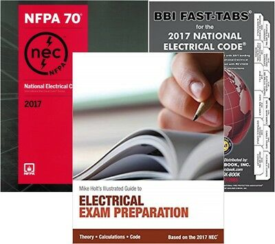 National Electrical Code Paperback, Fast Tabs & Mike Holt's Electrical Exam 2017