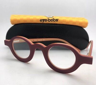 Readers EYE•BOBS Eyeglasses LUNA SEE 2316 40 +1.00 Red on Yellow Frames