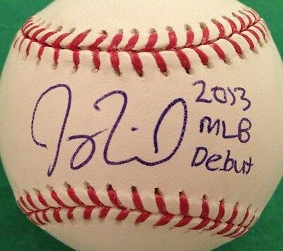Joey Terdoslavich SIGNED OMLB OML Baseball AUTO Atlanta Braves w/ 2013 MLB Debut