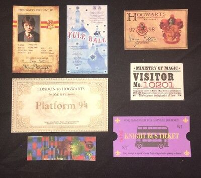 For Your Harry Potter Halloween Costume Hogwarts ID Express Ticket Party Prop - Hogwarts Halloween Costume