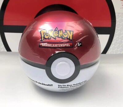 Pokemon Pokeball Tin Box Deutsch NEU&OVP (3 Booster + Münze)