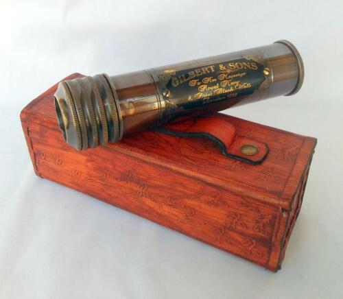 Vintage Antique Brass Kaleidoscope Gilbert & Sons Handmade Nautical Kids Gift