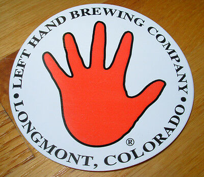 LEFT HAND BREWING COMPANY Promo Sticker LOGO decal craft beer brewery Colorado