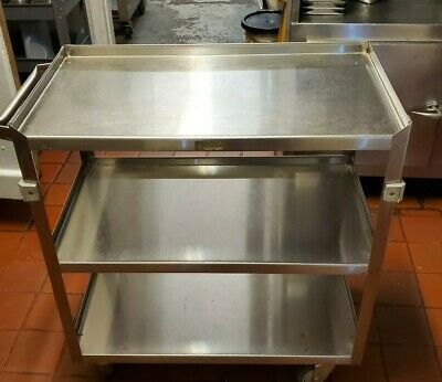 Commercial Stainless Steel 4 Wheel Push Cart With Handle