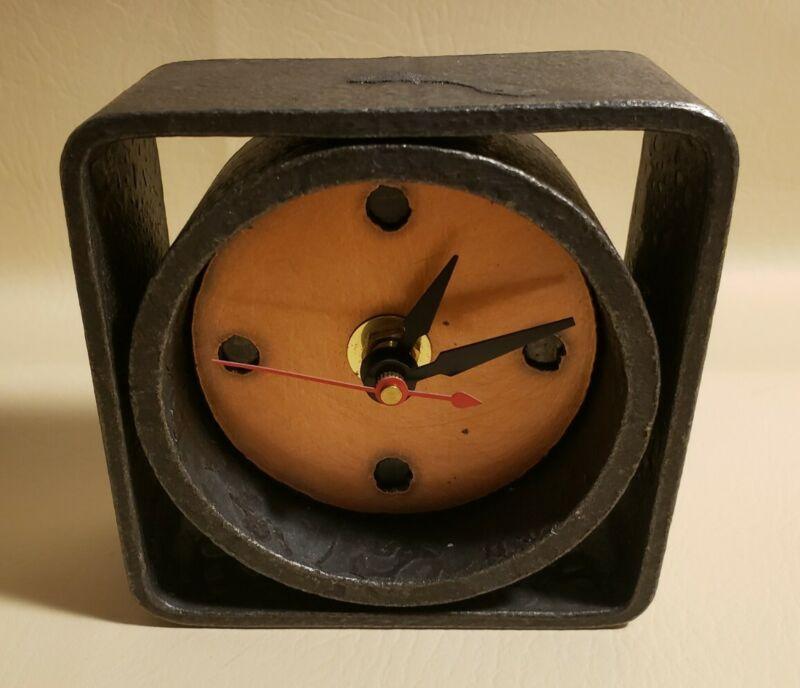 RARE Blackthorne Forge Steven Bronstein Iron Art Clock Brutalist Modern