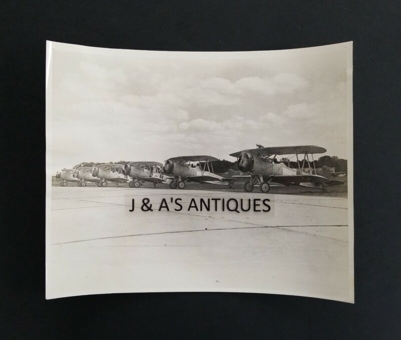 Original Vintage Propeller Biplane PHOTO