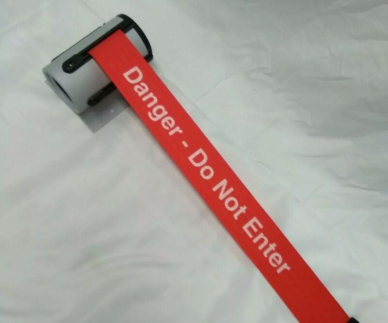 Tensabarrier Retractable belt Barrier, Red with White Text, Danger -Do Not Enter