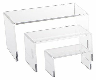Economy Clear Acrylic Riser Set Display Jewelry Showcase Fixtures Azm Displays